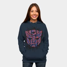 Transformers Hoodie - Auto Iconic Zip Hoodie By Djkopet   http://ragebear.com/to/transformers-hoodie-icon-women