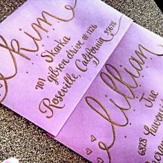 Calligraphy by Jennifer - Nationwide Wedding Calligraphy Service More