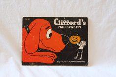CLIFFORD'S HALLOWEEN BOOK, 1973 Vintage Clifford Book, Vintage Children's book, Vintage storybook, vintage paper ephemera, vintage classic