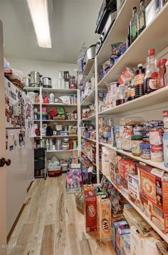 Huge walk in pantry with room for an extra fridge or for Large walk in pantry