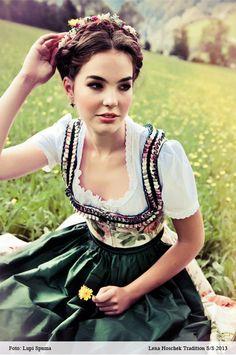 Die schöne traditionelle Kleidung von Deutschland.