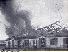 Incêndio Mappin Stores, 1922. Iba Mendes: EVENTOS
