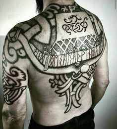 vikings tattoo. Tattoos on back
