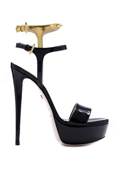 Ruthie Davis is going back to her Roots in 2014: Black Platform Sandal with Stiletto Heels #Shoes