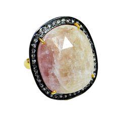 Silvestoo India Wonder Sapphire & Cubic Zircon Gemstone 925 Sterling Silver Vermail Ring US Sz 7 Adjustable PG-100716   https://www.amazon.co.uk/dp/B06XXK38ZD
