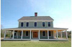 Cool Colonial/Farmhouse style plan.  House Plan 530-3