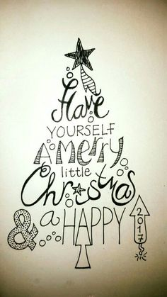 Have yourself a merry little christmas handlettering Have you… – Christmas DIY Holiday Cards Merry Christmas Gif, Christmas Quotes, Christmas Signs, Christmas Art, Doodle Wall, Merry Christmas Calligraphy, Karten Diy, Christmas Drawing, Xmas Drawing