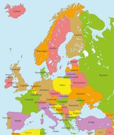 Topografie groep 6 | Alle landen in Europa | Landen | Junior Einstein