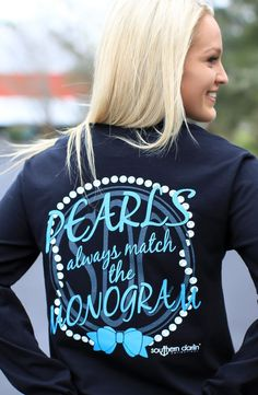 Pearls Match The Monogram- Southern Darlin'