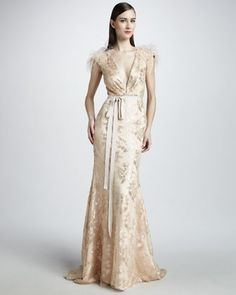 I am surprisingly drawn to this, despite the fact that it looks sort of like a fancy nightgown made of curtains