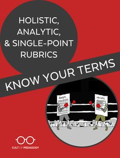 Whether you are new to rubrics, or you have used them for years without knowing their formal names, it may be time for a primer on rubric terminology.   Cult of Pedagogy Cult Of Pedagogy, Career Advice, Professional Development, Rubrics, Knowing You, Teacher, Names, Formal, Career Counseling