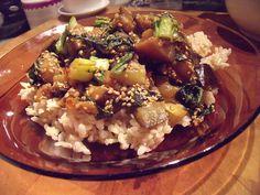 Ginger-Miso Eggplant & Bok Choy Stir-fry