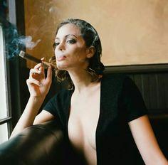 Angelina with cigar
