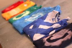 DIY T-shirt designs using bleach.