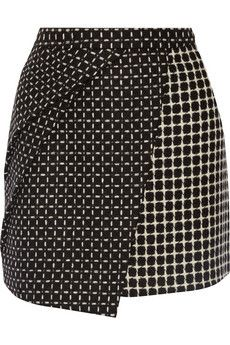 Raoul Sophie wrap-effect wool-blend mini skirt | THE OUTNET