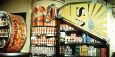 This was the grocery department. Everything shelved in huge replica's of the product. It looked like an Andy Warhol instillation !!