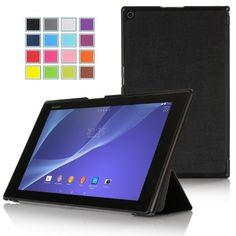 ELTD® Housse de haute qualité pour Sony Xperia Z2 Tablette Avec Stand de positionnement support et le sort de veille (Noir III): Amazon.fr: Informatique 12,95€