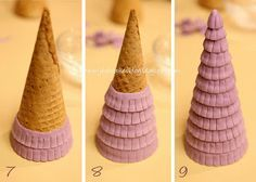 gingerbread treehouse ice cream cones - Google Search