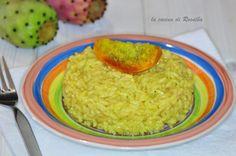 risotto ai fichi d'india, un primo piatto delicato che sorprende e cattura anche i palati più esigenti, assolutamente da rifare