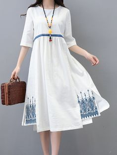 Short Summer Dresses, Simple Dresses, Casual Dresses, Fashion Dresses, Half Sleeve Dresses, Half Sleeves, Dresses With Sleeves, Kinds Of Clothes, Clothes For Women