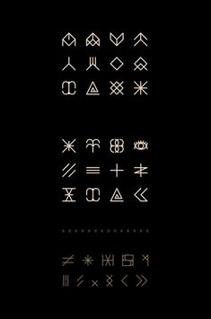 Icon / Enfant du Kult Font on Behance symbols set — Designspiration