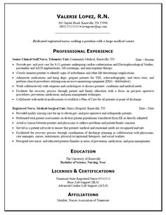 Telemetry Nurse Resume Nurse Resume Example  Pinterest  Sample Resume Resume Examples