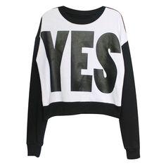 ROMWE Letters Print Long Sleeves Black Sweatshirt (44,770 KRW) ❤ liked on Polyvore featuring tops, hoodies, sweatshirts, sweaters, shirts, clothing - ls tops, long-sleeve shirt, long sleeve shirts, shirt top and extra long sleeve shirts