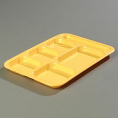 """Carlisle Tray 6-compartment - 43988-34 Case Pack: 12  Tray, 6-compartment, rectangular, 10"""" x 14-1/2"""", heavy weight melamine, 5 food compart..."""