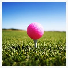 i don't play golf (maybe i should learn though) but if I did, I would use pink golf balls :)...why use white when you can use PINK??!!  :)