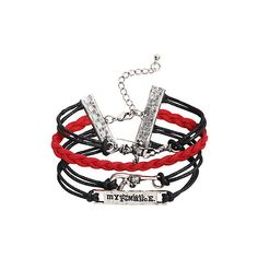 My Chemical Romance Black Parade Bracelet 4 Pack | Hot Topic ($11) ❤ liked on Polyvore
