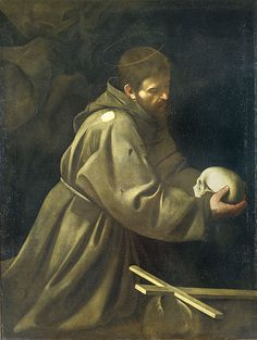 """Caravaggio, """"San Francesco in meditazione"""""""