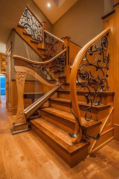 Craftsman staircase staircase craftsman with interior design details living space glass garage door Craftsman Staircase, Wood Staircase, Stair Handrail, Wooden Stairs, Banisters, Grand Staircase, Wooden Staircase Design, Interior Staircase, Wood Design