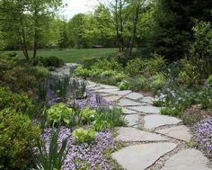 Re-pin if you love this beautiful flagstone path!