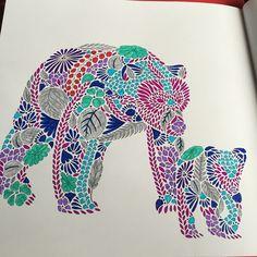 Mama And Baby Bear In Purple Blue Grey AnimalKingdom Milliemarotta ArtTherapy BearsColoring BooksAdult ColoringColouringArt