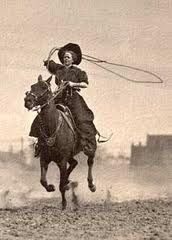 Lucille Mulhall (1885-1940).  Teddy Roosevelt was one admirer of her roping, riding, and sharpshooting.