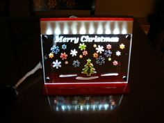 Christmas Light LED lit Merry Christmas by MLSLaserEngraving