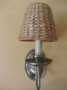 Six Chandelier Sea Grass Woven Wicker Shades Clip On Style