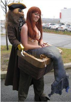 Este disfraz de una sirena secuestrada: