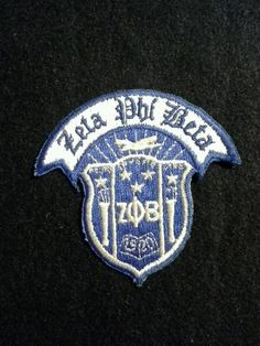 "4"" Zeta Phi Beta Crest Heat applied Applique"