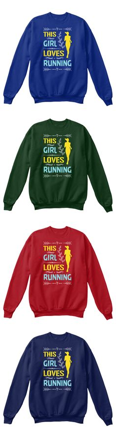⚡ You can get this if you love running ⚡ Get: https://teespring.com/this-girl-loves-running2