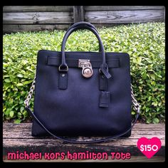 821bcf53f041 Michael Kors Hamilton Tote....black saffiano leather in pristine condition  $150 (dust bag included) ...Only at Clothes Mentor Palm Harbor