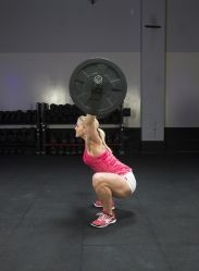 OHS: The hip crease must be below the top of the knee at the bottom. A full squat snatch is permitted, but not required, to start the movement if...