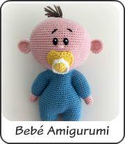 Muñeco bebé amigurumi Baby Knitting Patterns, Amigurumi Patterns, Amigurumi Doll, Crochet Patterns, Crochet Baby Toys, Crochet Animals, Knitted Dolls, Crochet Dolls, Baby Doll Toys