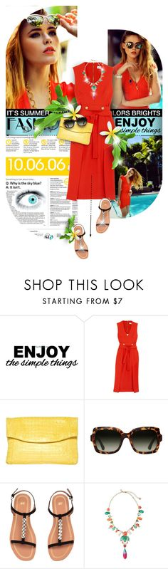 """""""Summer red dress"""" by kseniz13 ❤ liked on Polyvore featuring WALL, Piaget, Rebecca Vallance, Nancy Gonzalez, TOMS and Kate Spade"""