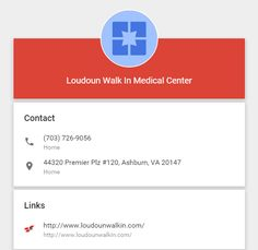 Loudoun Walkin Medical Center offers emergency health care services and offers treatment for non-life threatening health issues.