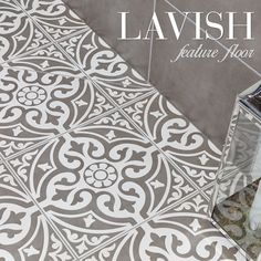 Create a lavish feature floor with the Devonstone tile. The decorative motif goes perfectly with the understated simplicity of plain tiles