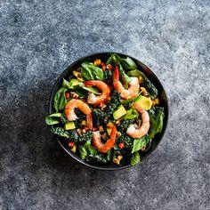 Shrimp and Avocado Salad - Instant Pot Recipes Instant Pot Fish Recipe, Instant Recipes, Top Recipes, Salad Recipes, Shrimp Avocado Salad, Ceasar Salad, Clean Diet, Buzzfeed Food, Food Is Fuel
