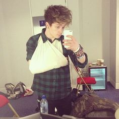 Connor Ball after he fell off the stage. Seriously looked like he walked straight over the edge.