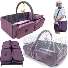 Buy Cashay Baby Premium 3 in 1 Diaper Bag is a Baby Nap Mat / Baby Bassinet Portable, Diaper Changing Station, and offers Travel Accessories for Baby including a Mosquito Net Protection System Best Diaper Bag, Baby Diaper Bags, Diaper Bag Backpack, Baby Kingdom, Baby Nap Mats, Baby Travel Bed, Bebe Love, Fashionable Diaper Bags, Gifts For Newborn Boy