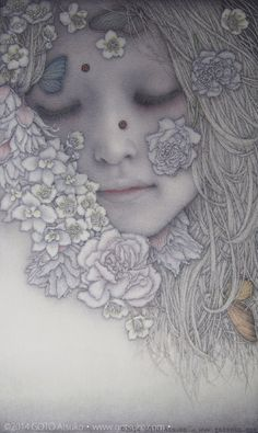 Ethereal Paintings by Goto Atsuko   The Dancing Rest